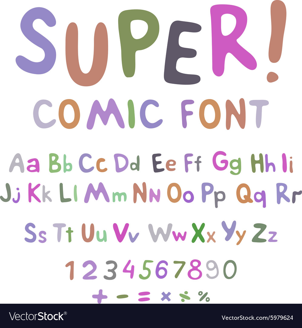Wow creative high detail font for your design the vector