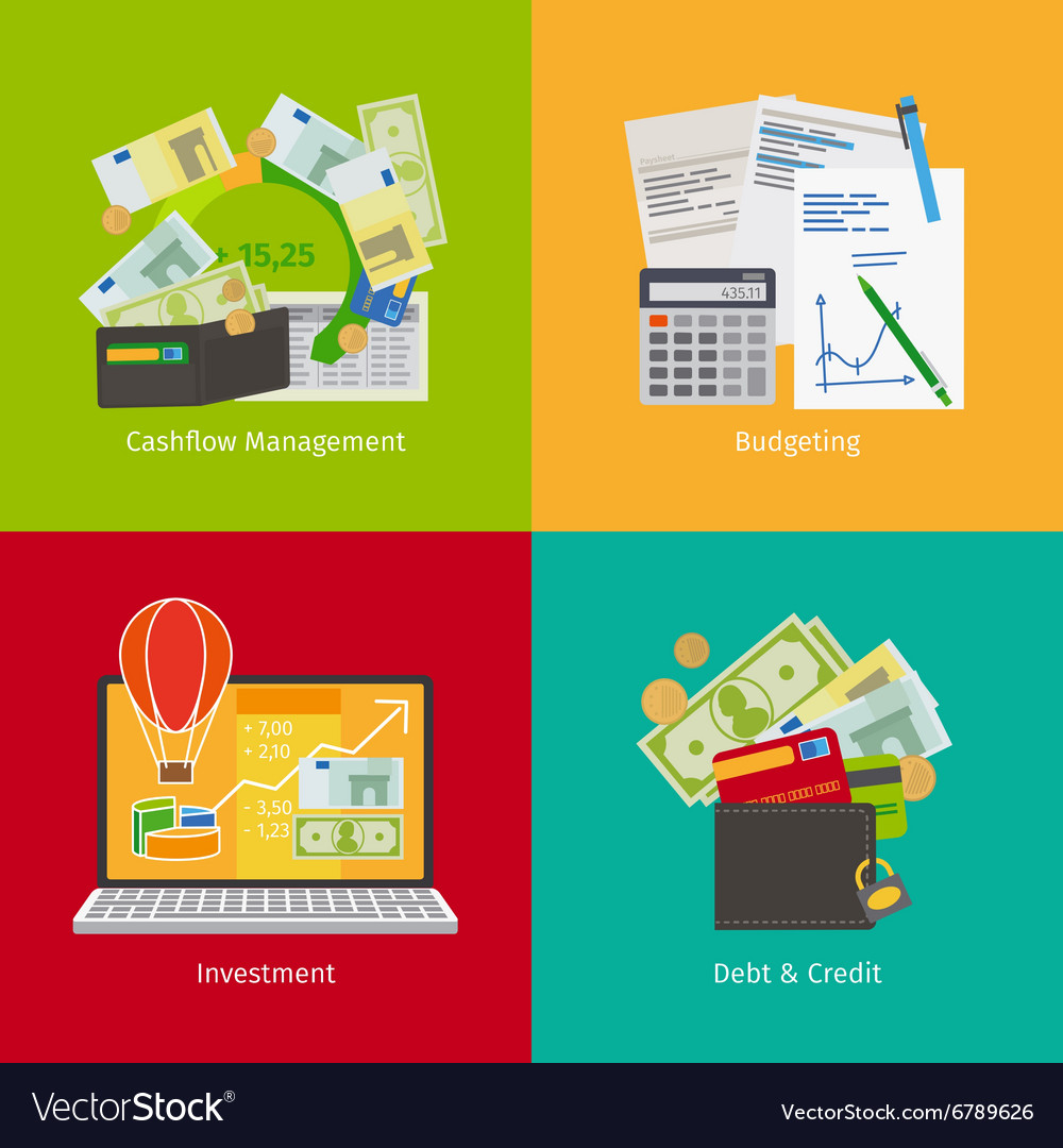 Investing and personal finance vector