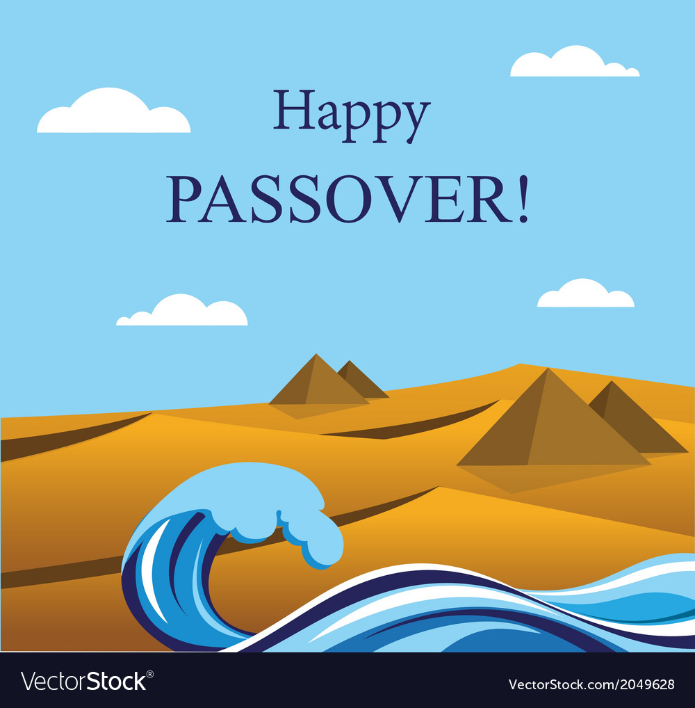 Happy passover out of the jews from egypt vector