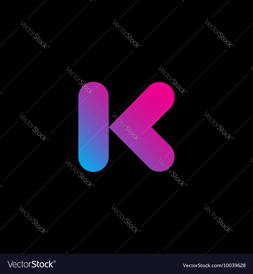 Letter k logo icon design template element vector