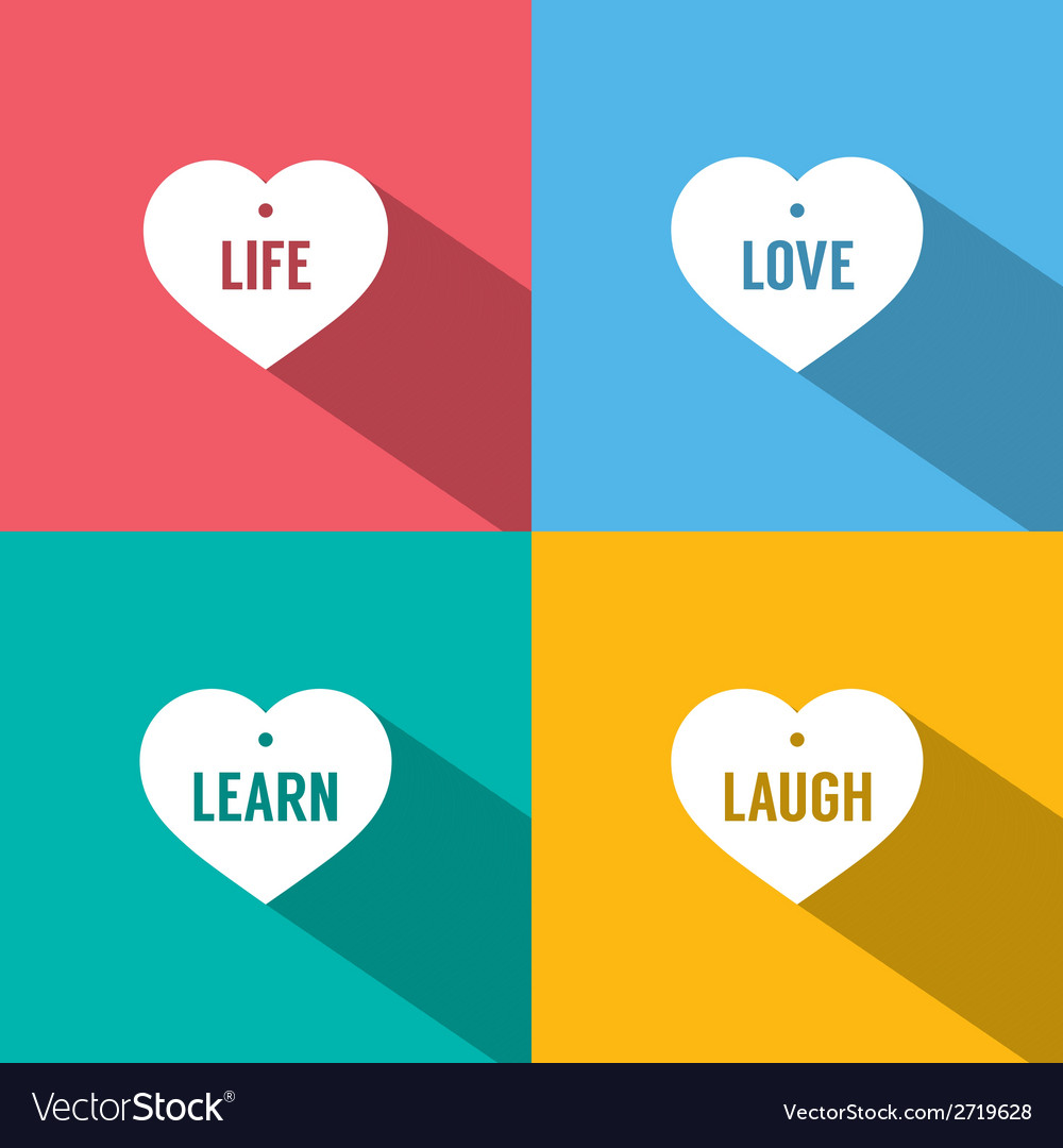 Philosophy of life vector