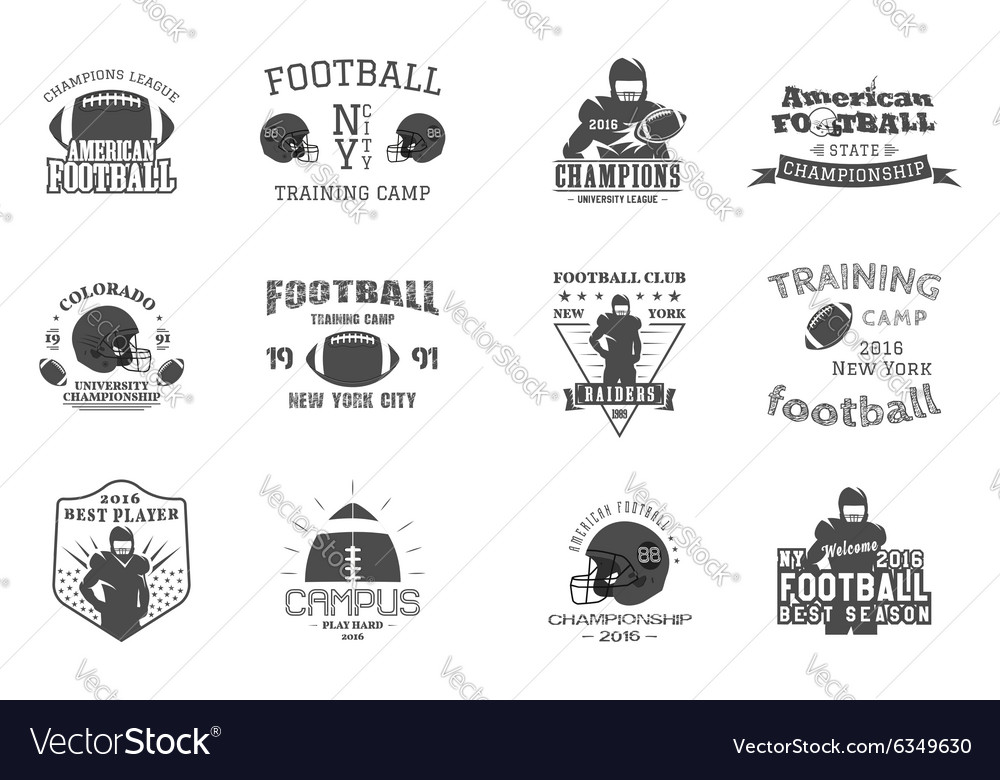 College rugby and american football team campus vector