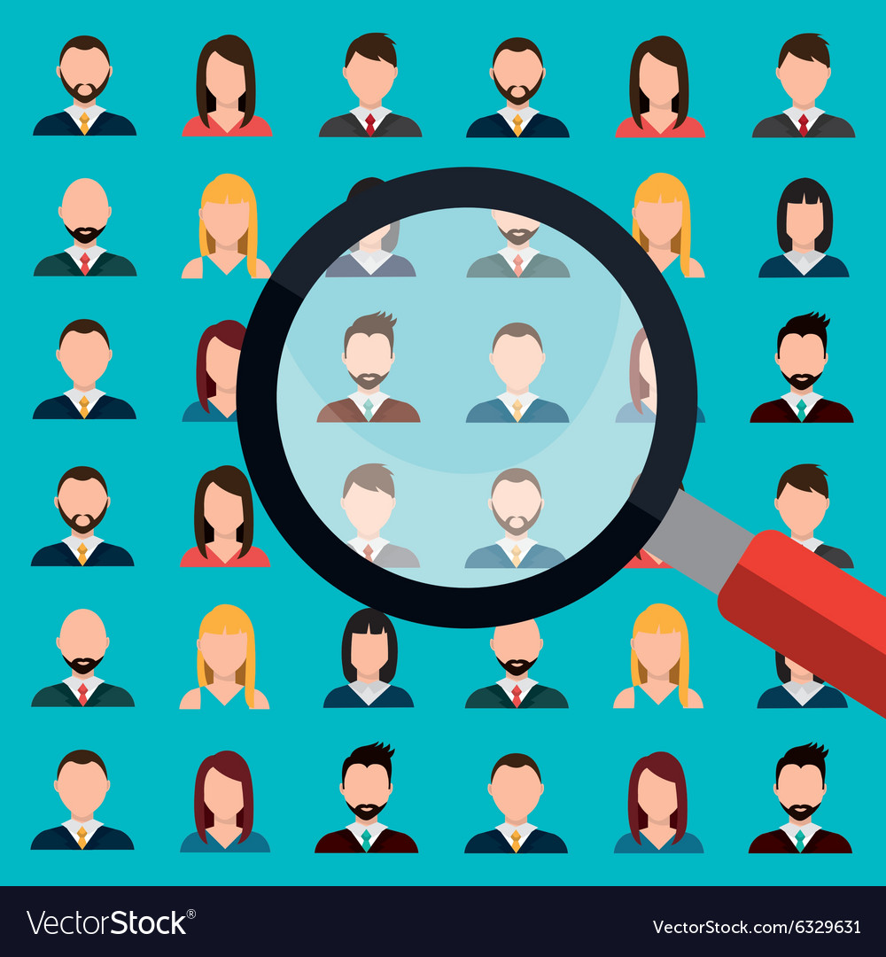 Find person for job opportunity design vector