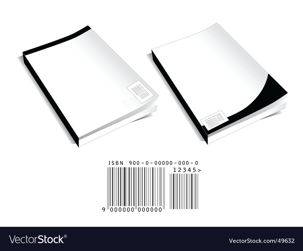 Book covers with barcode vector
