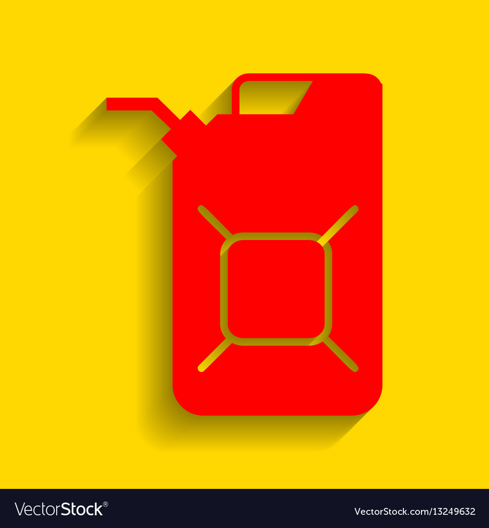 Jerrycan oil sign jerry can oil sign red vector