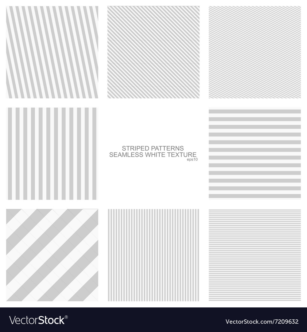 Simple striped patterns seamless vector