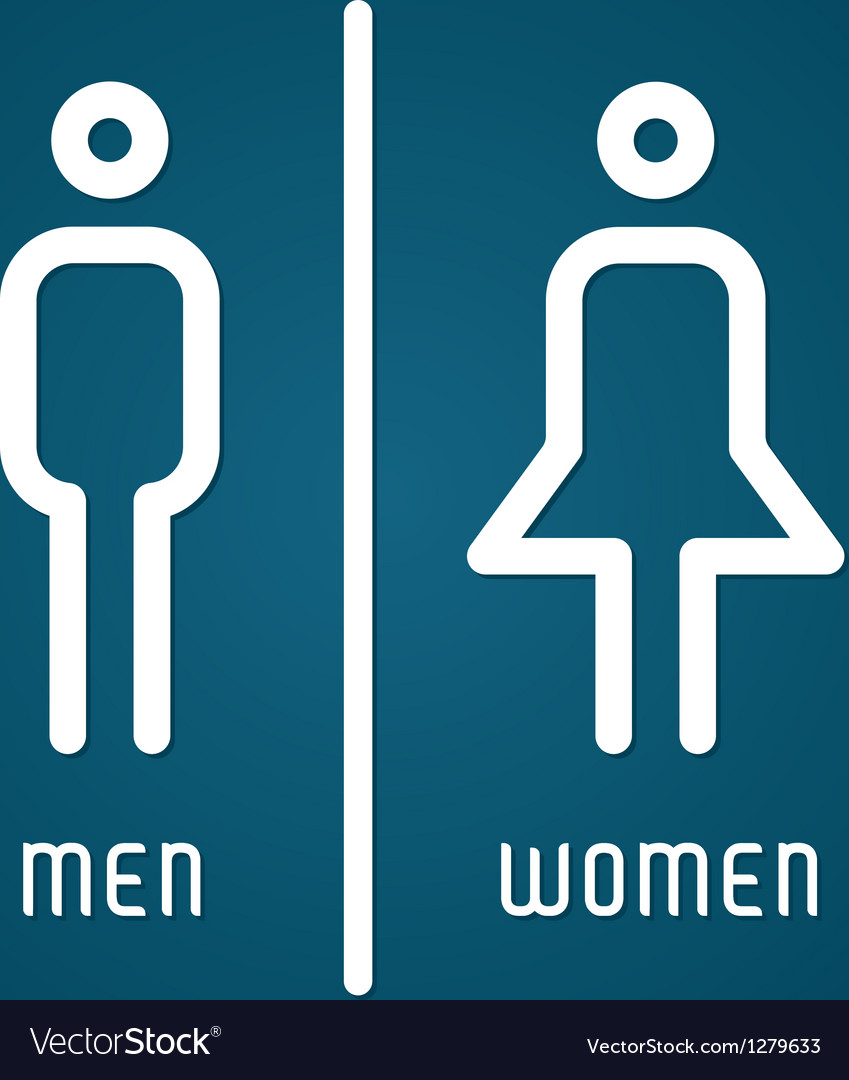 Restroom male and female sign vector