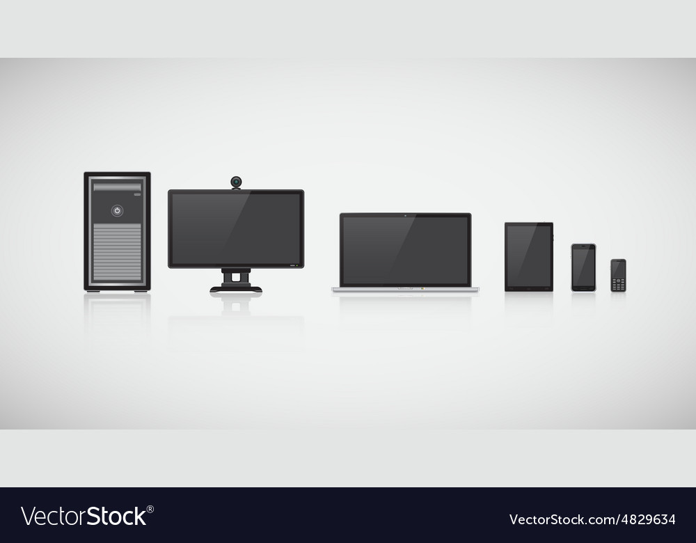 Computers and phones vector