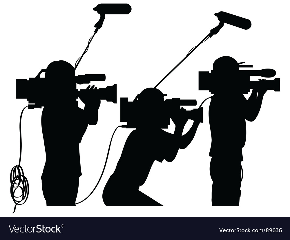 Cameramen at work vector