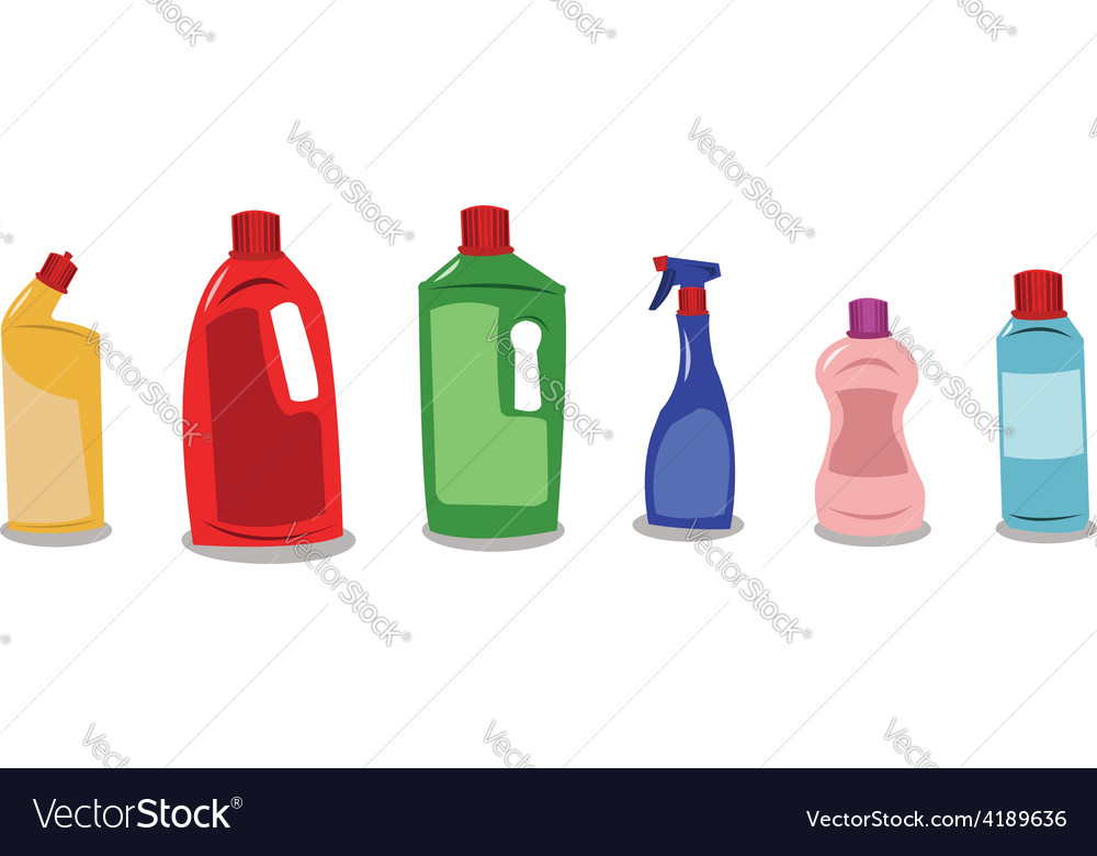 Plastic containers with blank tags vector