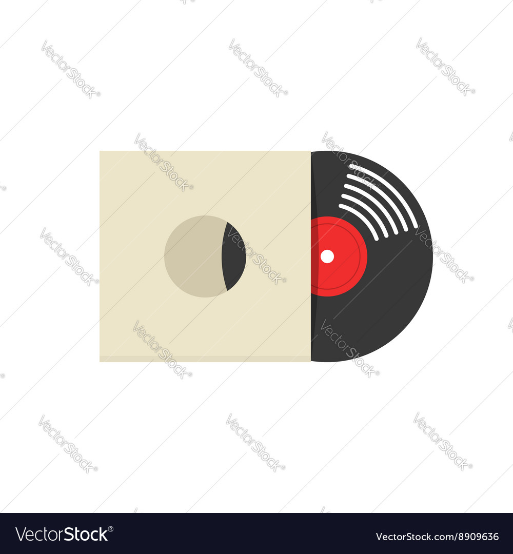 Record vinyl album cover vector