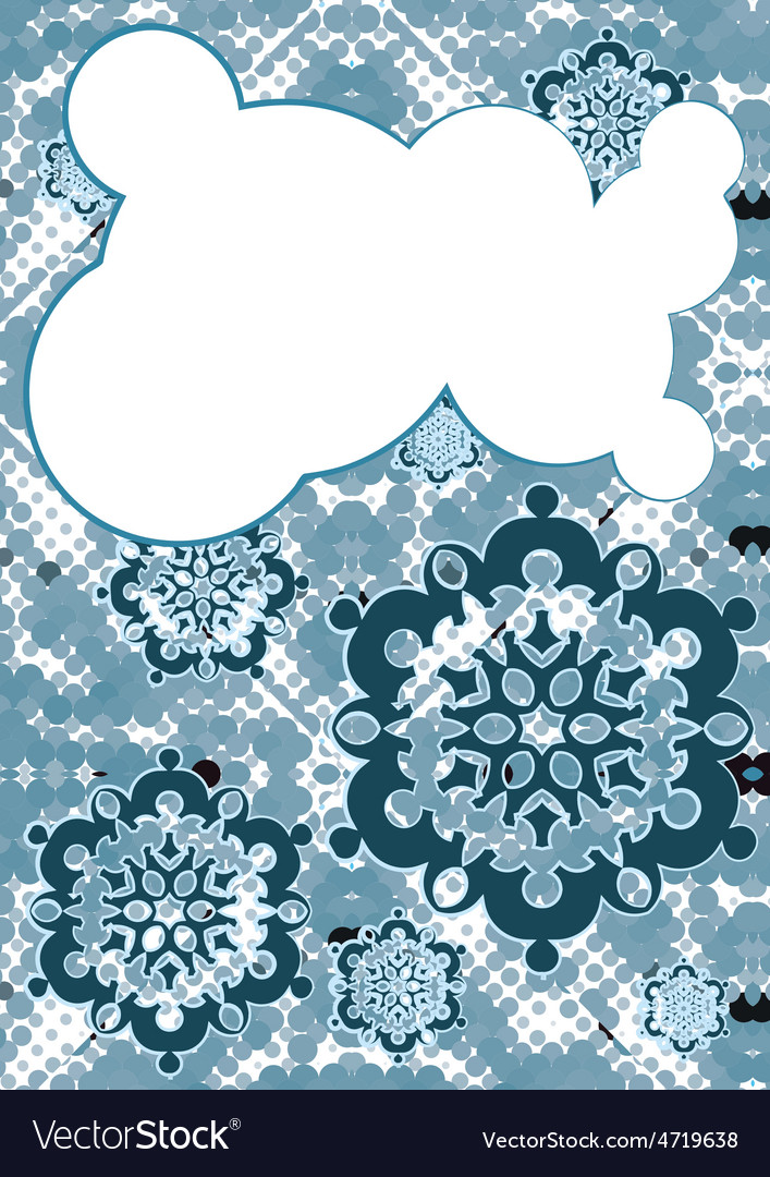 Falling snow and speech bubble vector