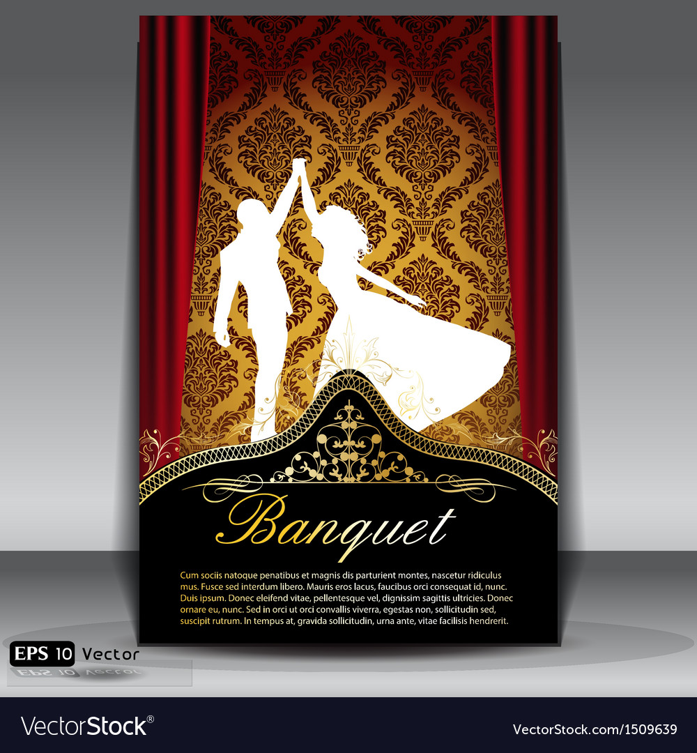Banquet flyer vector