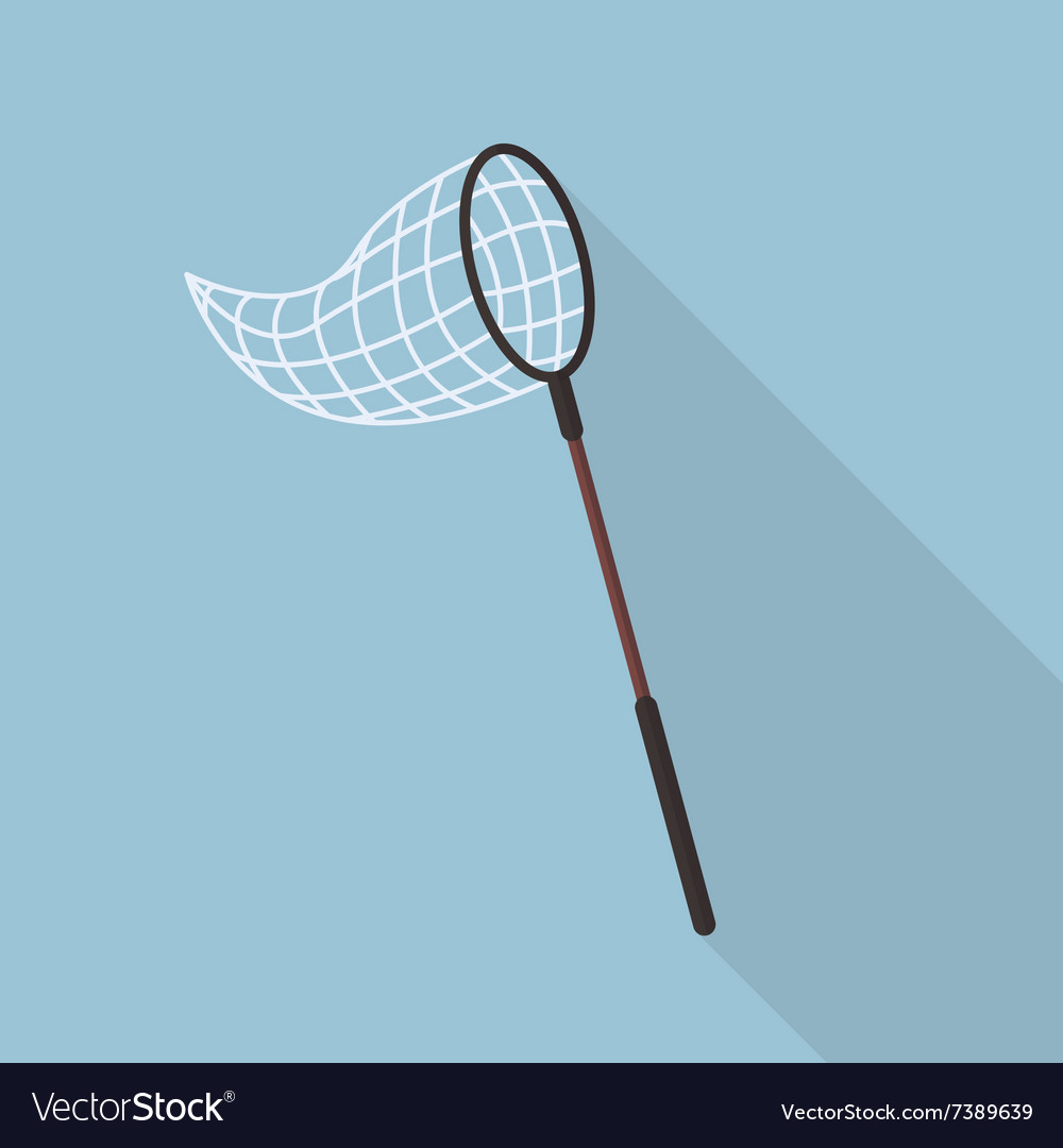 Butterfly net flat icon vector