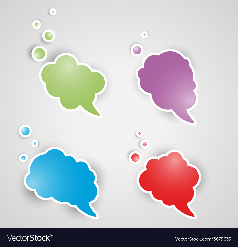 Four speak bubbles vector