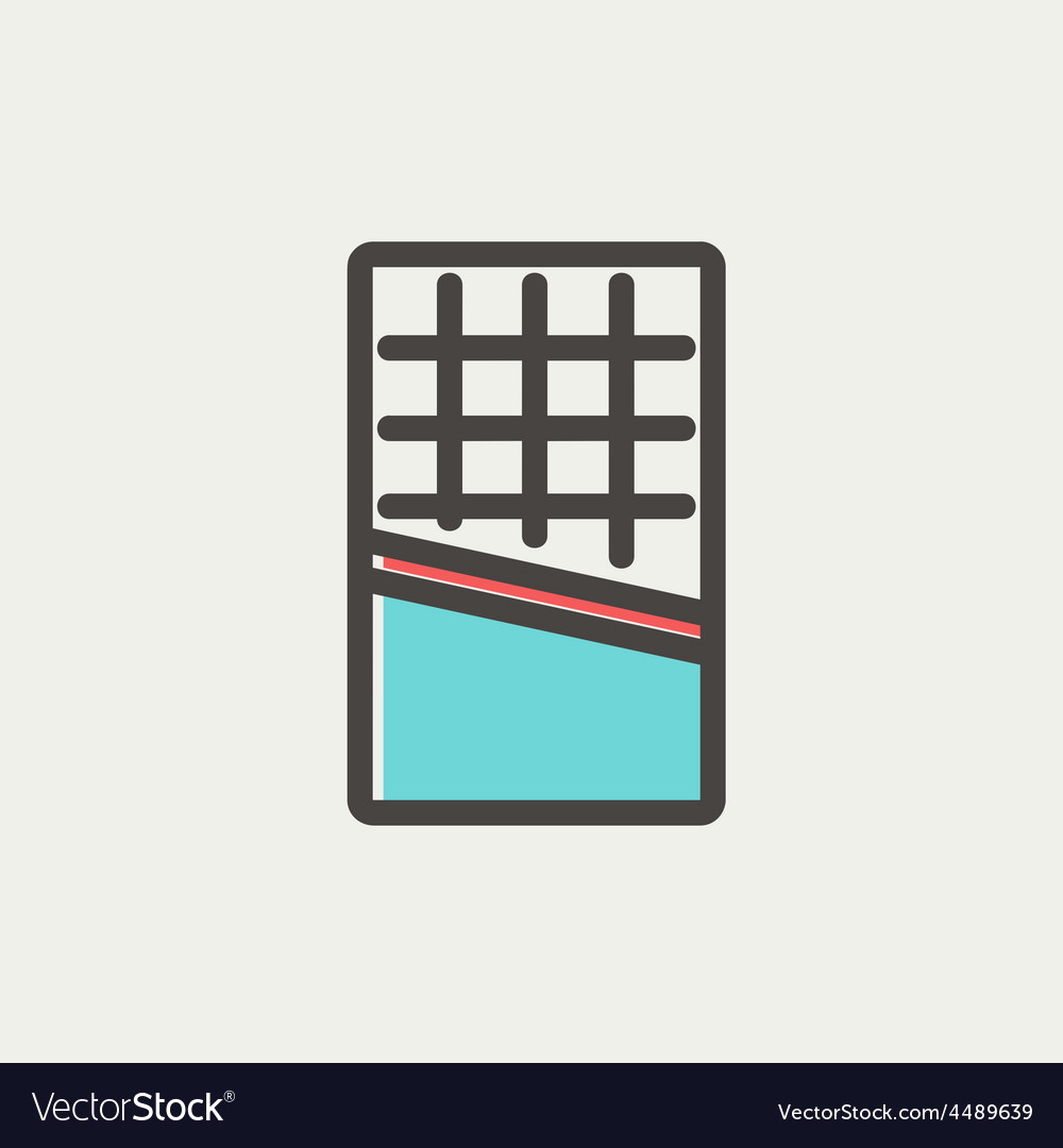 Waffle thin line icon vector