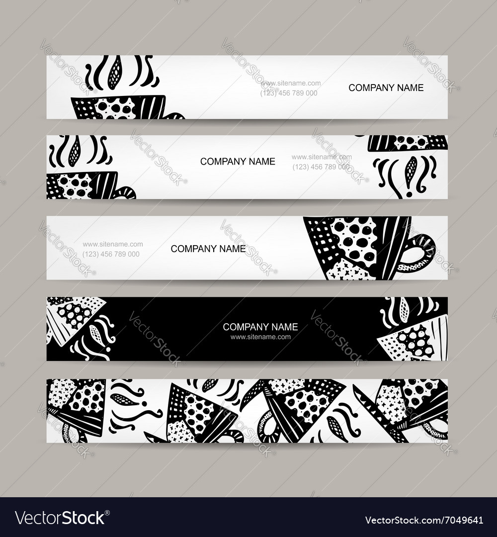 Banners template coffee cup design vector