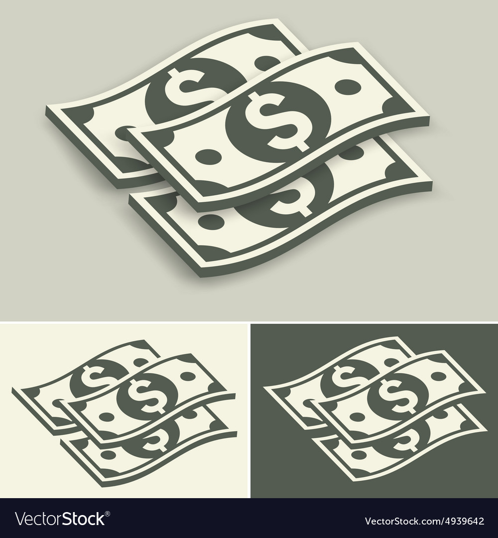 Paper bank notes set vector