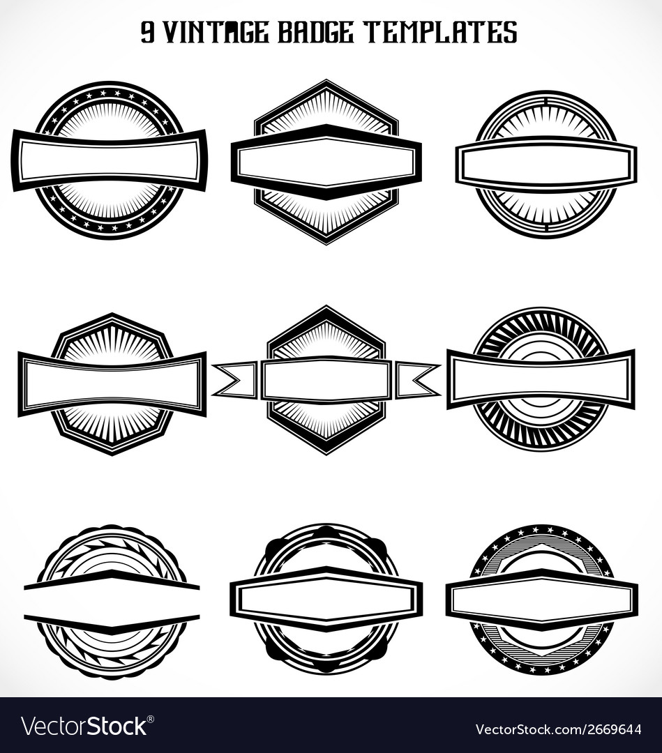 Vintage badge templates vector