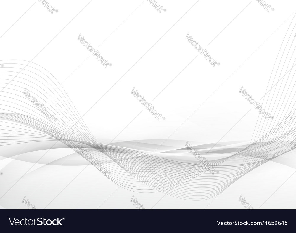 Elegant abstract smooth swoosh speed gray wave vector