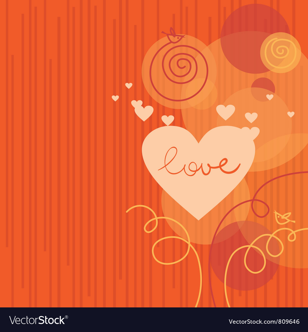 Love background with abstract hearts vector