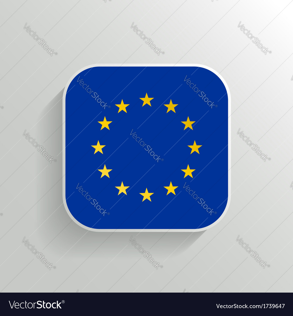 Button  europe flag icon vector