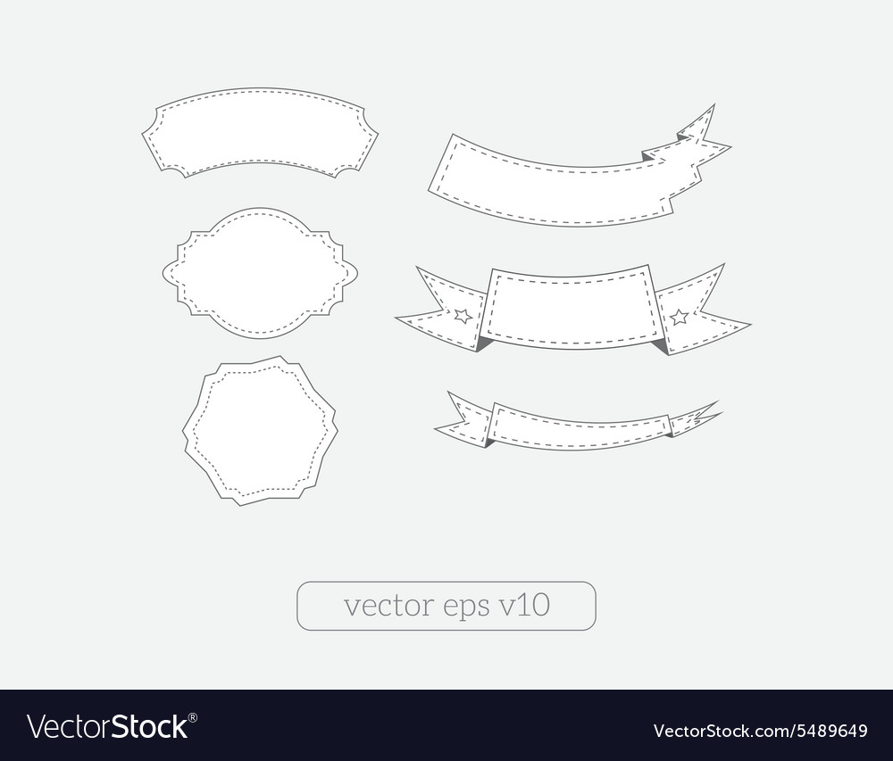 Vintage ribbon banners set vector