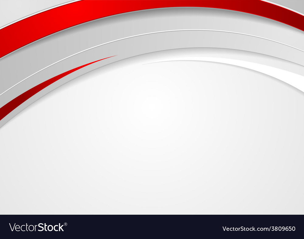 Abstract corporate red waves design vector