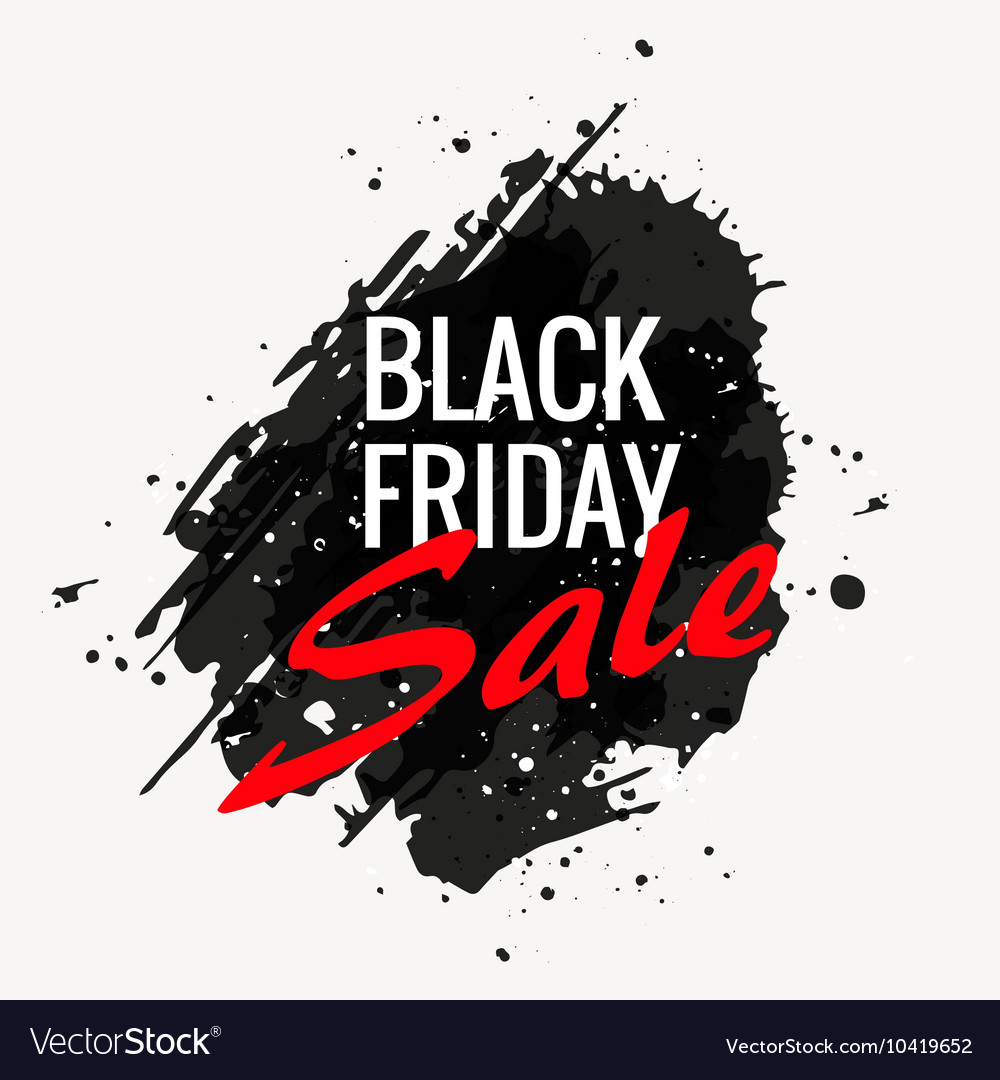 Black friday grunge style banner design vector