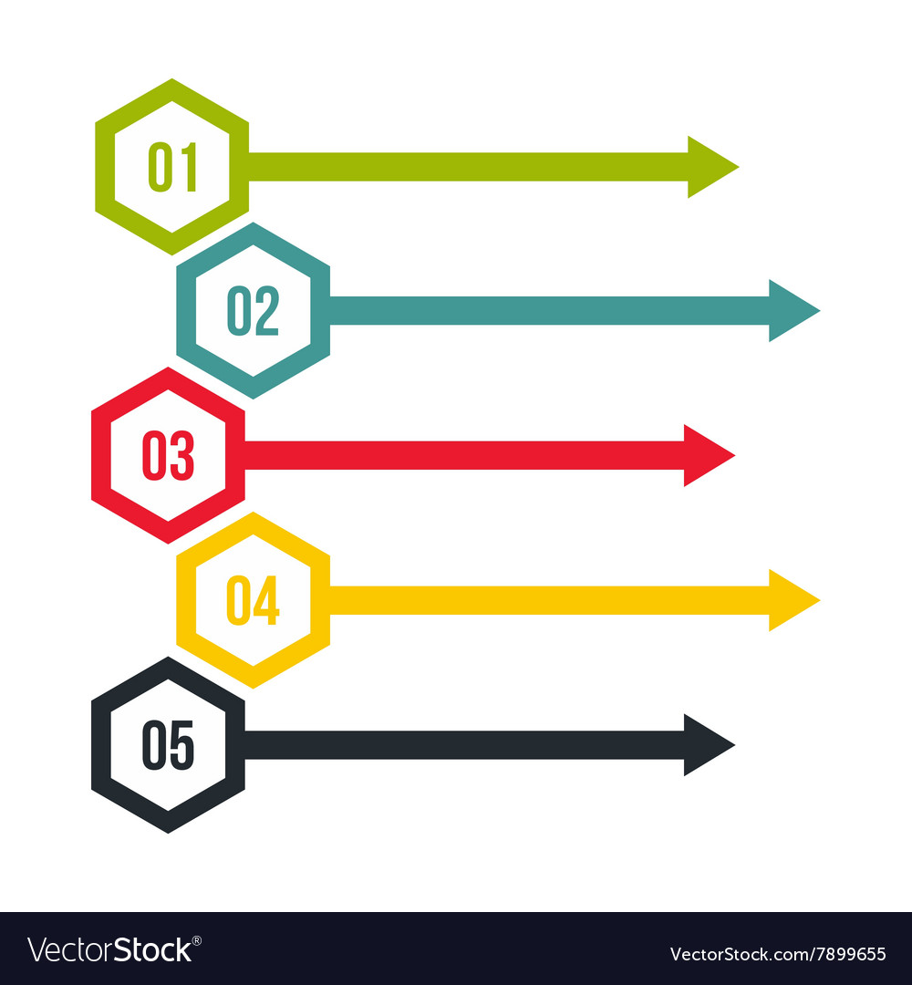 Business concept with 5 options parts steps vector