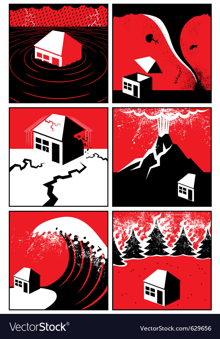 Natural disasters vector