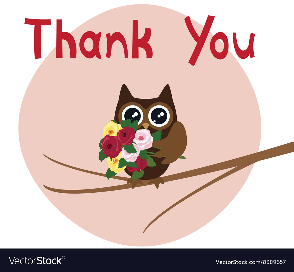 Owl thanks vector