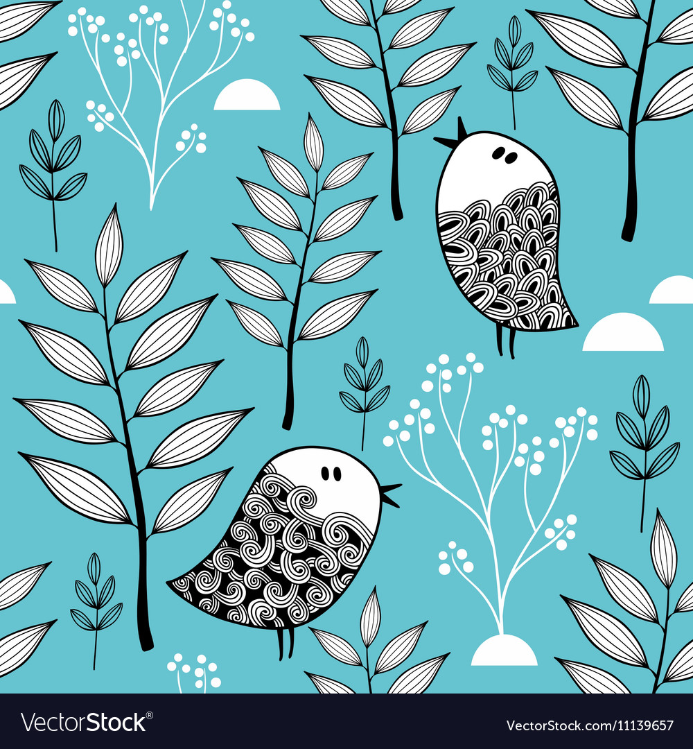 Winter in the forest vector