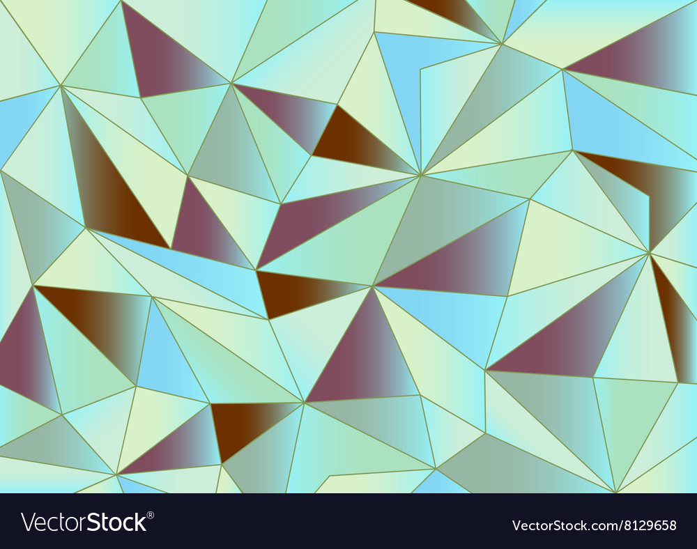 Abstract pastel triangles 3d background vector