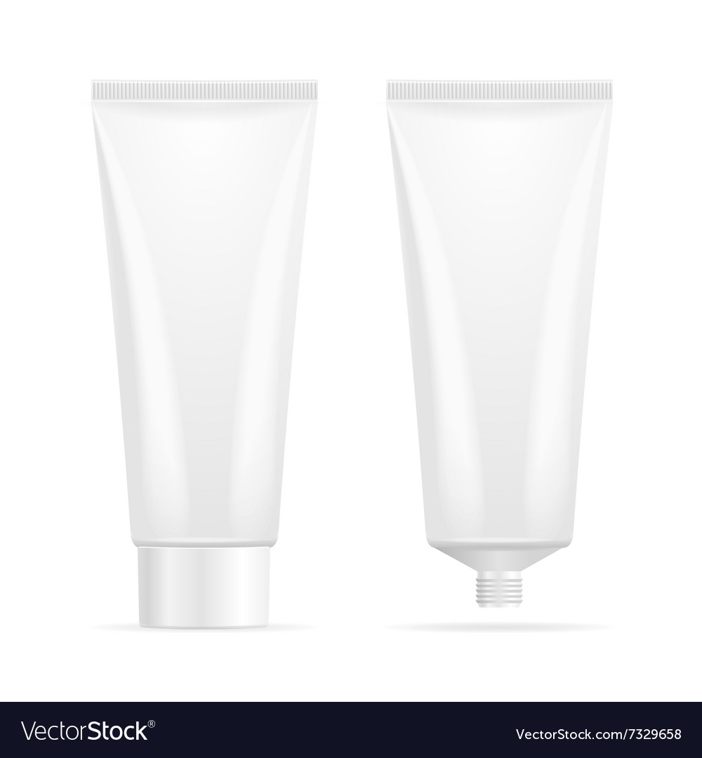 Tube mockup for cream vector