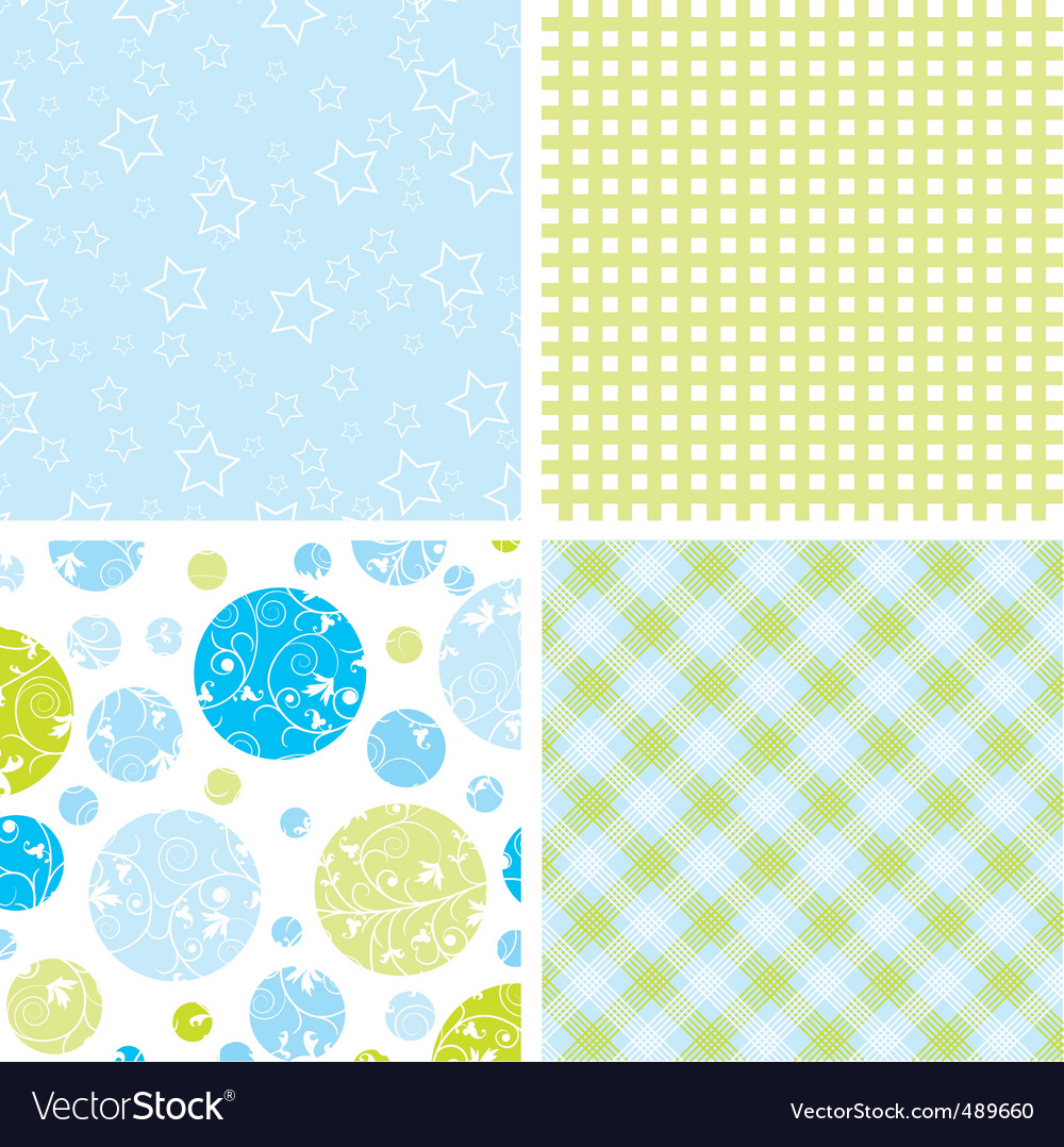 Scrapbook patterns for design vector
