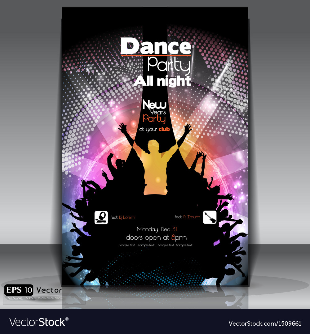 Urban dance party flyer vector