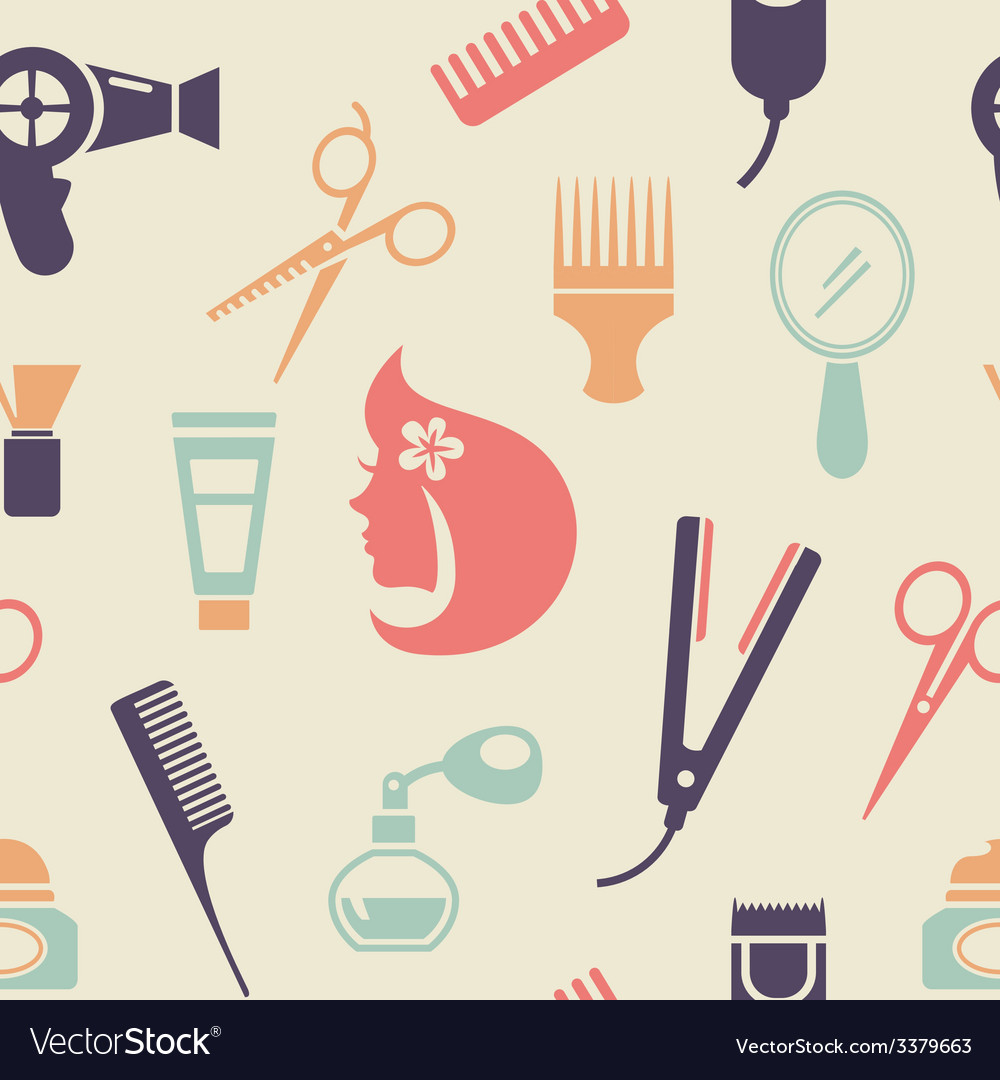 Colored barbershop pattern vector