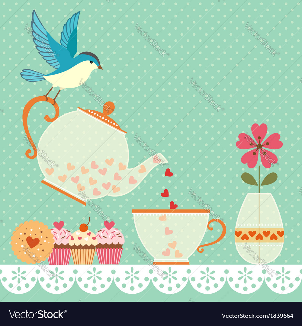 Tea time vector
