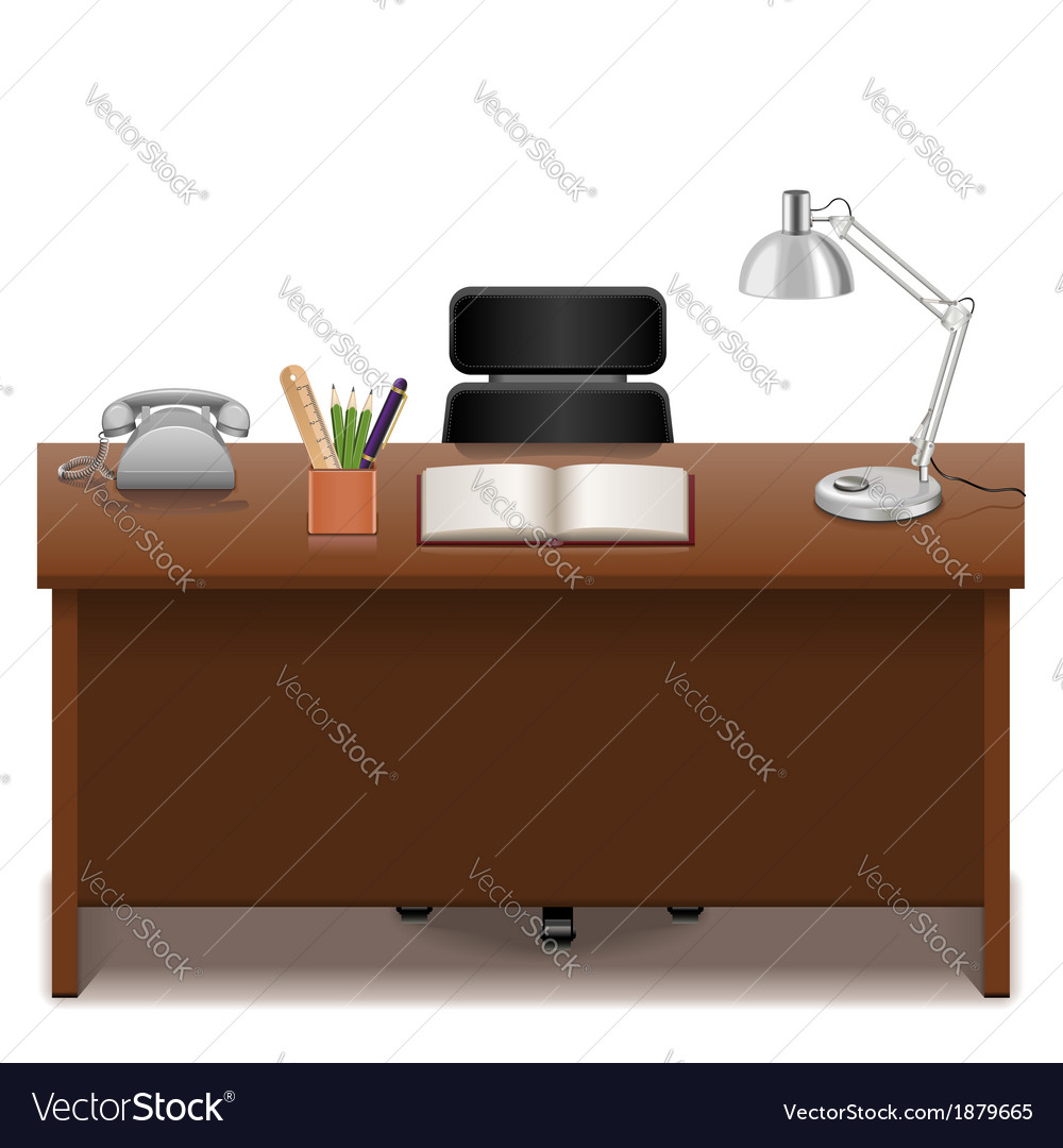 Office table vector
