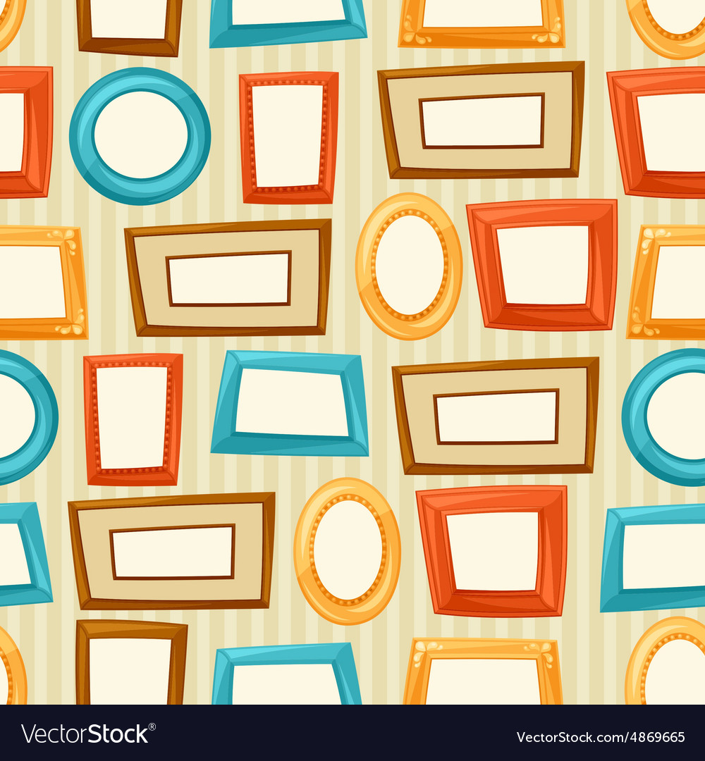 Seamless pattern background with color various vector