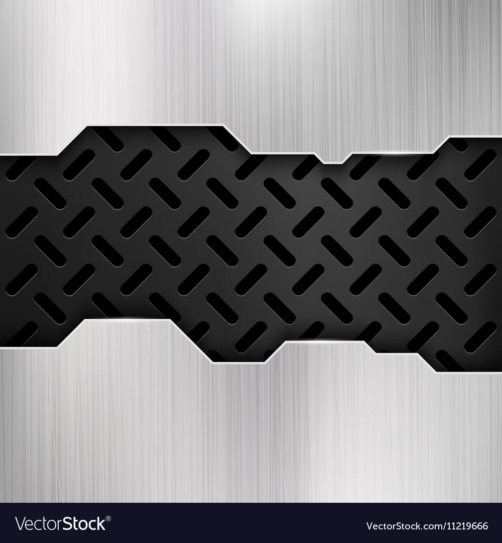 Industrial grunge metal steel wall gatel vector