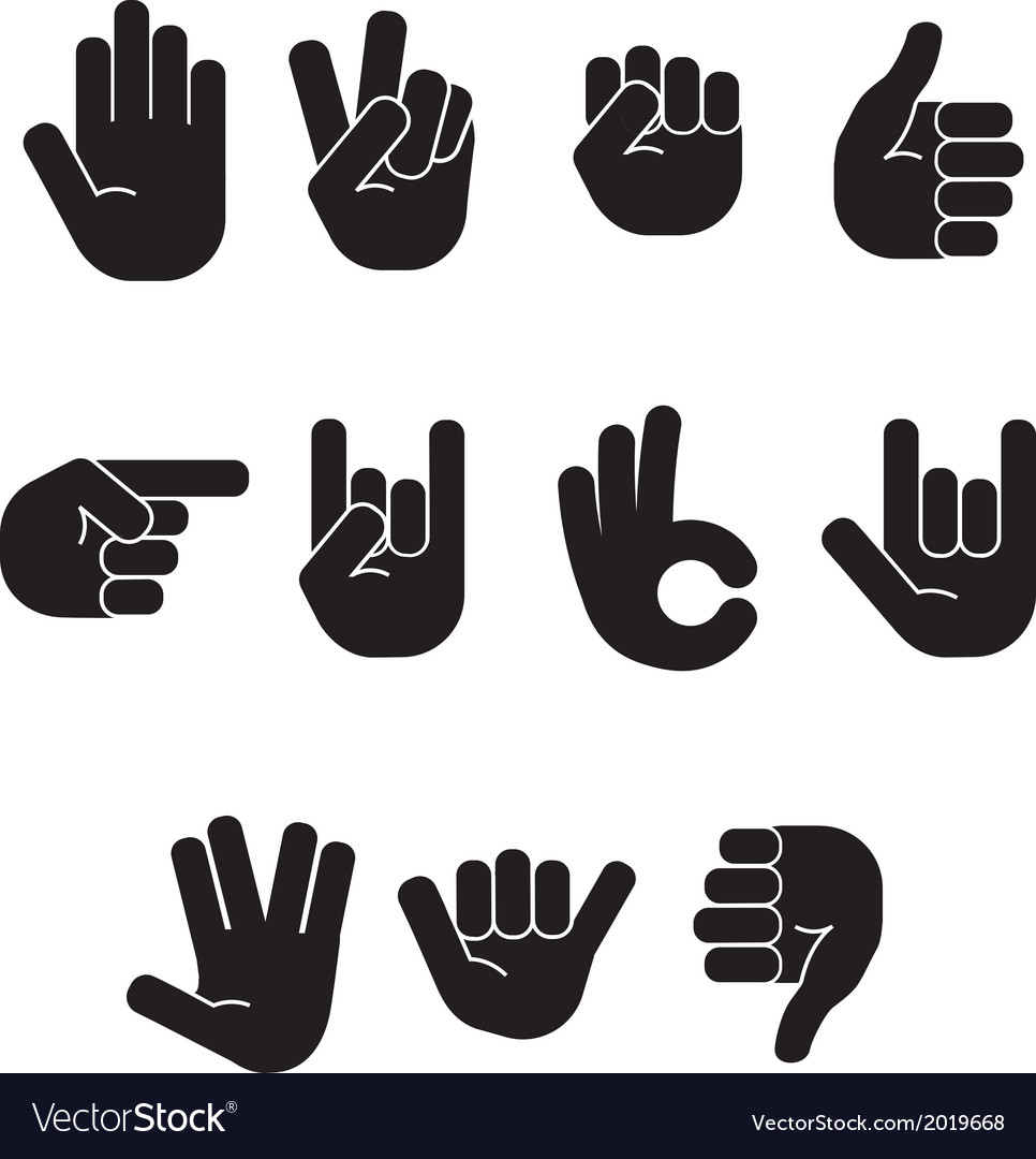 Stick figure hands vector