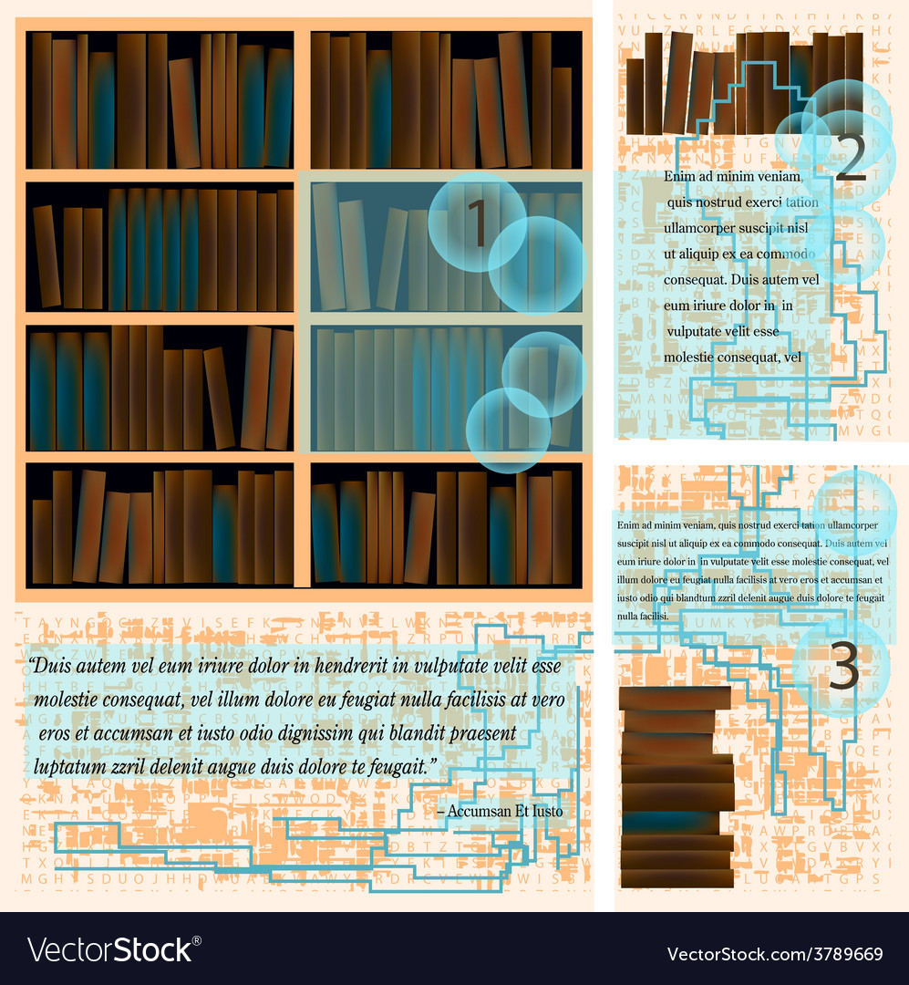 Templates with books vector