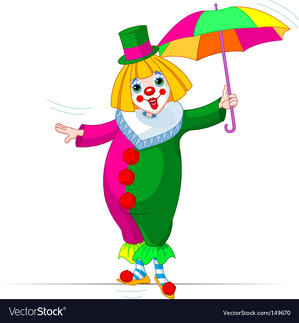 Ropewalker clown vector
