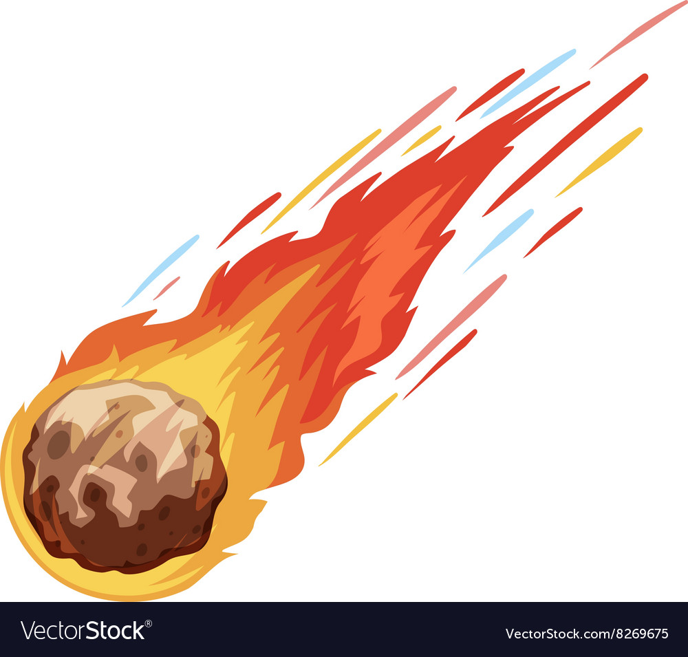 Comet falling down fast vector
