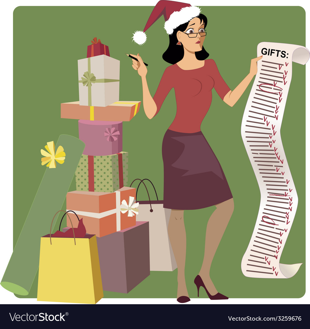 Holiday shopping vector