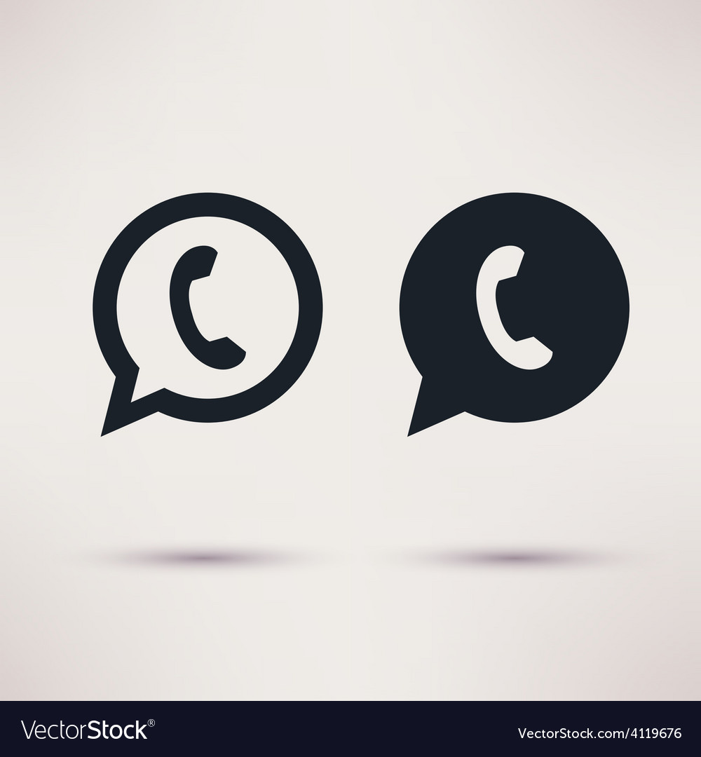 Two handset icons flat style vector