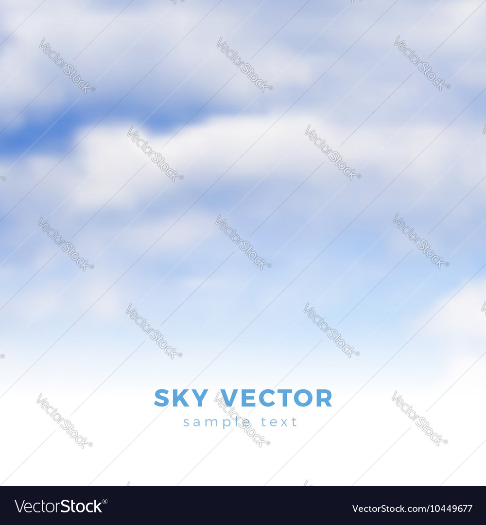 Fluffy clouds on blue sky heaven vector