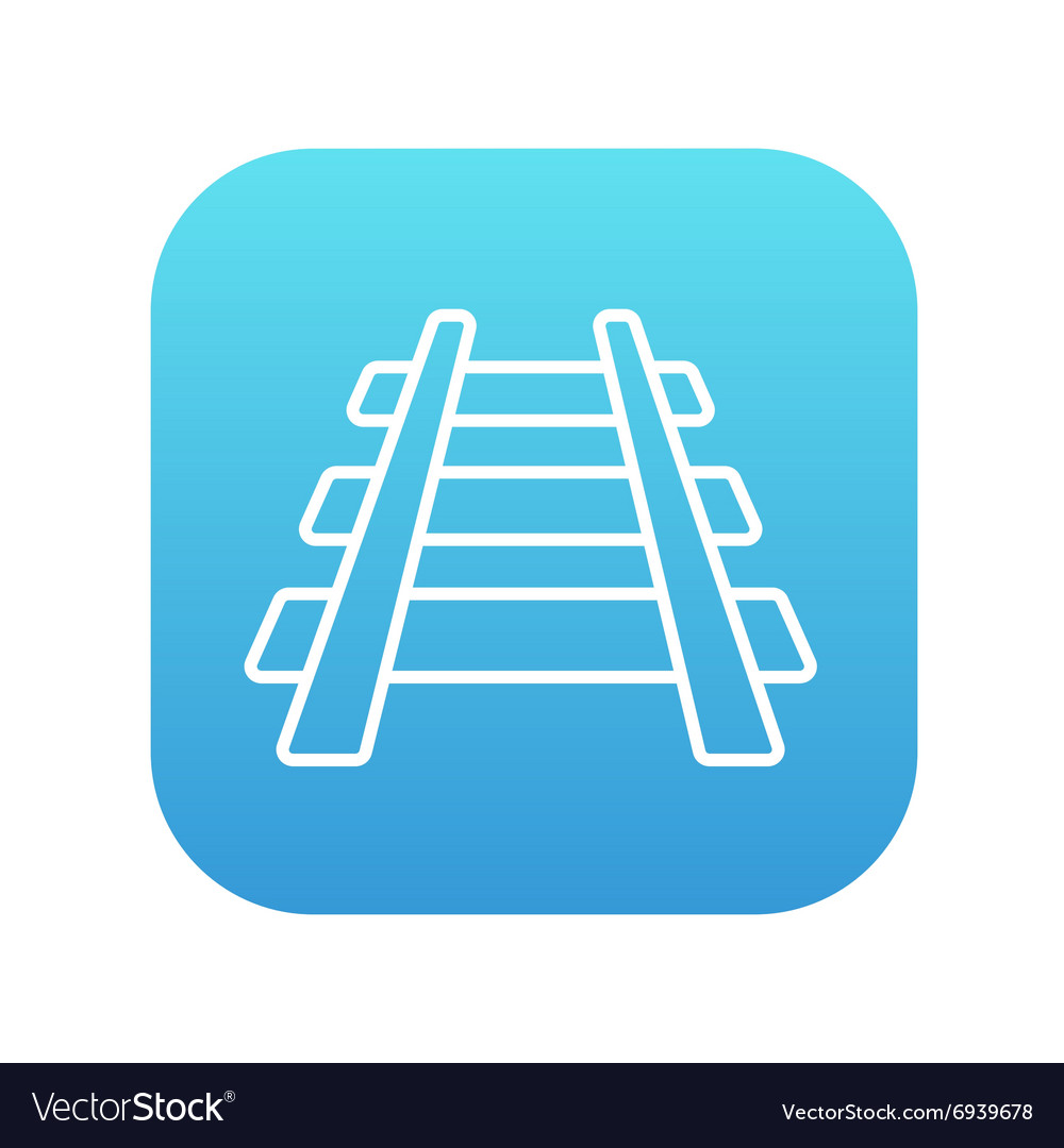 Railway track line icon vector